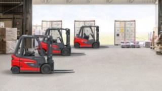 Fahrzeuge der neuen Gegengewichtsstapler-Plattform von Linde Material Handling