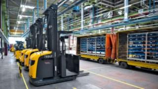 Linde-Fahrzeug im Einsatz bei der Heidelberger Druckmaschinen AG